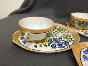 Collectible Antique Antique Hand Painted Cups & Plates London Ontario image 4