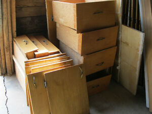 Wood doors and drawers for sale