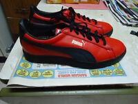 Vintage Red and Black Puma Shoes