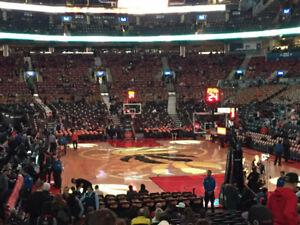 Toronto Raptors Lower Bowl Baseline vs Cleveland Cavaliers