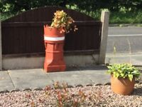 PAIR OF CHIMNEY POTS (CROWNS )