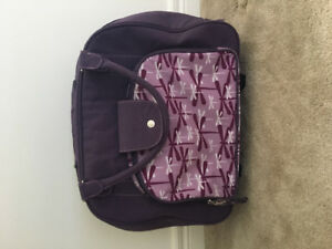 Kids purple  butterfly luggage