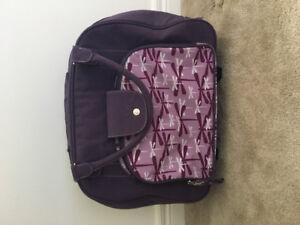 Kids purple  butterfly luggage