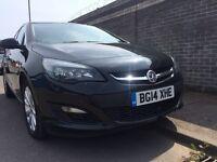 2014 Vauxhall astra 1.6 cdti Black SATNAV . Vauxhall warranty !!
