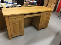 Oak home office desk