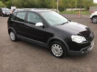 0808 Volkswagen Polo 1.4 ( 80PS ) Dune Black 5 Door 66730mls MOT July 2018
