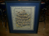 Unique NHL Hockey Leafs Character Signed Framed Print Dryden