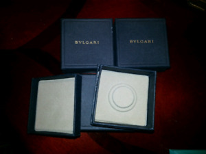 Lot of 4 new Bvlgari small jewelry boxes