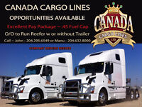 Urgent required 4 Owner Operators for Canada/US
