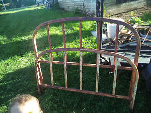old fashioned metal bed frame