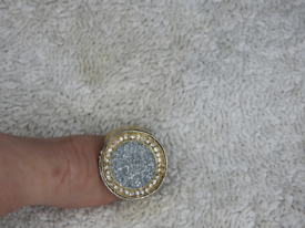 9ct Gold plated ring with CZ stones