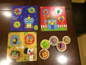 Assorted puzzles - ages 2+