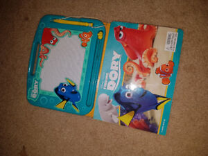 Books.. paw patrol has buttons makes noises..finding nemo book