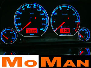 VW Golf MK3 plasma tacho glow gauges tachoscheiben dials Volkswagen Vento Polo - Subkowy, Polska - Zwroty są przyjmowane - Subkowy, Polska