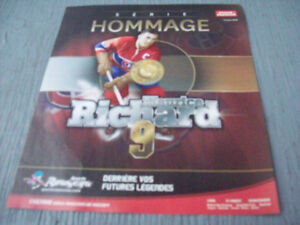 1-SERIE HOMMAGE,MAURICE RICHARD 9 DE COLLECTION.