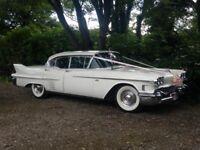 Classic American wedding car