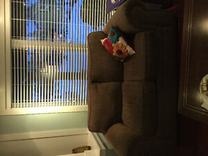 Love seat, chair and ottoman