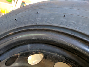 4 x Federal 185/65R14 tires and steel rims
