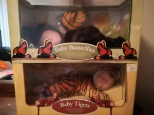 Anne gedde dolls. Baby butterfly and tiger.