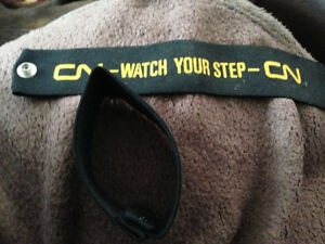 CN CNR Conductor Arm Bands, Pant Cuffs Watch Your Step Mint Cambridge Kitchener Area image 2