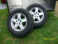 4 Dodge Mag Wheels and Tires (in very good condition).