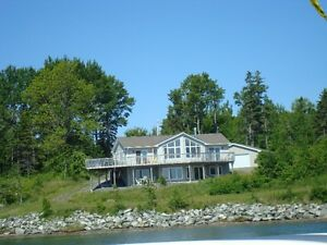 OCEANFRONT HOME ON PRIVATE FIVE PLUS ACRES, ANTIGONISH N S