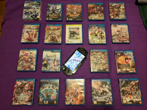 First Gen PS Vita + PSN account with 15 games + 5 Physical Games