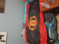 Selling huge Manchester United flag in excellent condition.