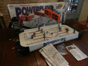 Irwin Powerplay Table Top Hockey 1990's Complete