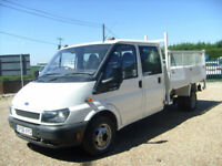 Ford Transit 2.4TDI Crewcab CAGED TIPPER 350 LWB LOW MILES