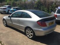Mercedes-Benz C Class 2.1 C220 CDI SE 2dr, Coupe Auto, Diesel,Black Leather Seats,Panoramic Sunroof