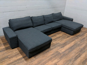 Ikea Kivik sectional sofa w/ new dark grey covers. FREE DELIVERY