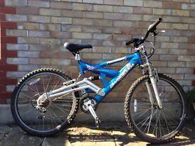 Mens Barracuda full suspension Mountain bike