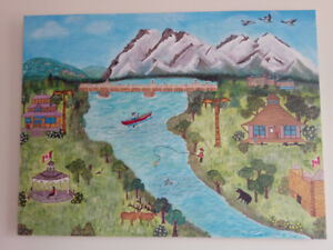 Beautiful 30inchesx40inches Nature Painting(Hand made)