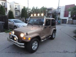 JeepTJ 1999 Sahara4Li 5vit Bijou231 km air cond va super $6999