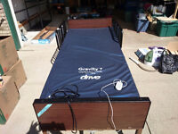 Fully electric bed with Half Rails and Gravity 7 Mattress