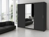 🔲🔳DELIVERY IS FREE AND FAST🔲🔳 NEW BERLIN 2 DOOR SLIDING WARDROBE IN AMAZING NEW COLORS AND SIZE