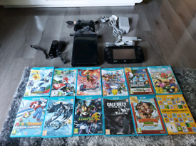 Wii u console bundle with 12 games and extra controllers
