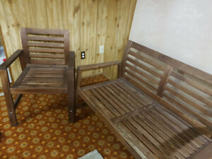 Ikea outdoor bench+2 chairs set
