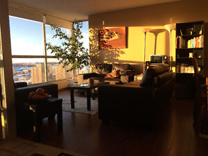 Master bedroom-Furnished-All Included-18floor Apartment-Downtown