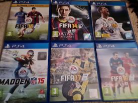 6 ps4 Games Playstation 4 Bundle Joblot Madden