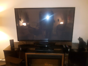 60 in LG plasma TV and blu ray with surround sound system