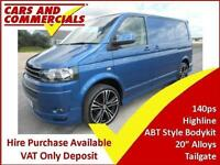 2015 15 VOLKSWAGEN TRANSPORTER T5 T28 SWB HIGHLINE 140PS ABT STYLE BODYKIT (TAIL