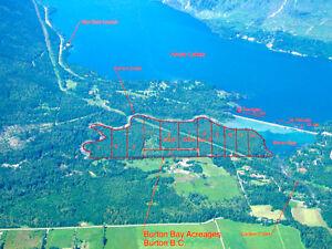 Beautiful Recreational Arrow Lakes Waterfront Acreages