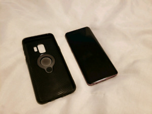 SAMSUNG S9 unlocked 64gb + case!! *almost new with warranty*