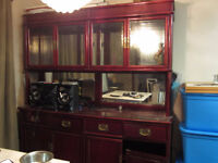 Redwood China Cabinet with Curio Display