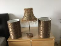 Next lamp and set of two matching shades