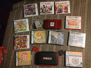 New Nintendo 3DS XL with 5 x 3DS games and 4 x DS games w/case