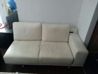 BoConcept White Leather Couch