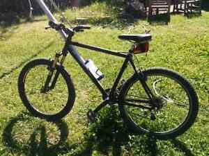 Giant Carbon Fiber mountain bike, upgraded front fork